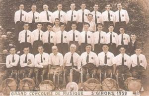 Batterie fanfare St Sulpice en 1952